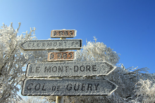 Givre en Auvergne