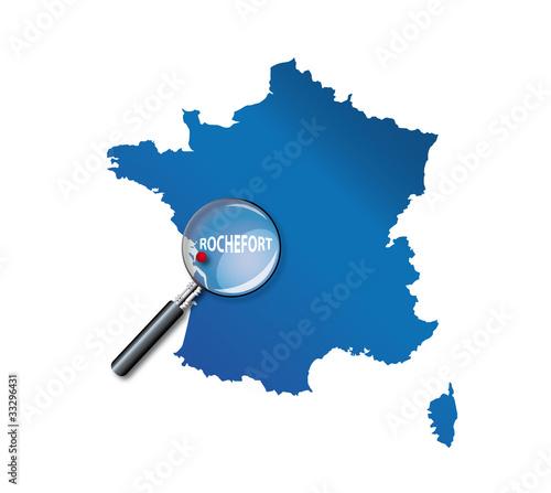 """""""Rochefort : Carte de France - Charente-Maritime"""" fichier vectoriel libre de droits sur la ..."""