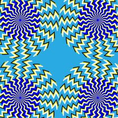 Poster de jardin Psychedelique Spinners on Steroids