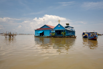 church on Tonle Sap Lake