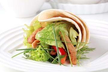 Vegetarian wrap sandwich