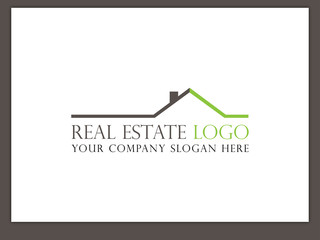 Immobilien Logo - Real Estate - Vector Template No. 12