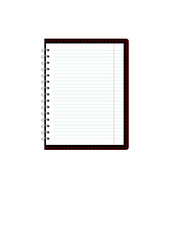 Pages of ruled notebook paper - page curl.