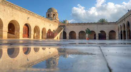 Wet courtyard of the Great Mosque in Sousse