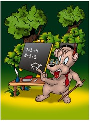 Bear Teacher - Cartoon Illustration, Bitmap