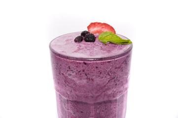 ice strawberry juice on white backgrounds
