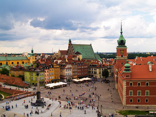 Fototapete - Old town square, Warsaw, Poland
