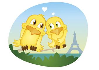 summer romantic love in Paris