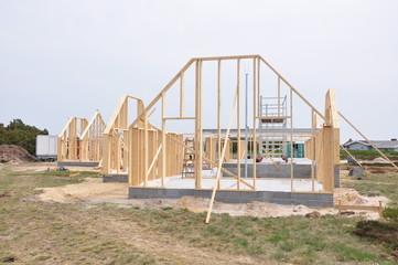 Holzhaus Baustelle
