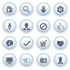 Basic web icons on buttons.