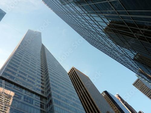 Grattacieli di new york visti dalla strada immagini e for Immagini grattacieli di new york