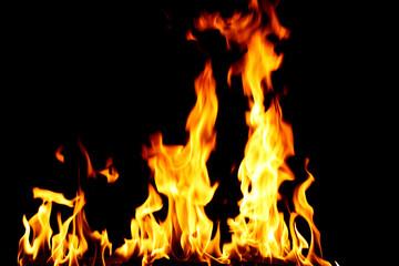 Staande foto Vlam inferno fire