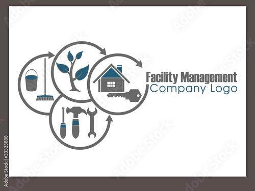 facility management logo service rund um immobilien. Black Bedroom Furniture Sets. Home Design Ideas