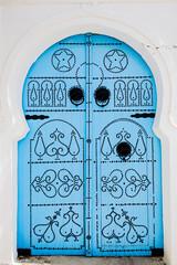 Keuken foto achterwand Tunesië blue door,sidi-bou-said, tunisia