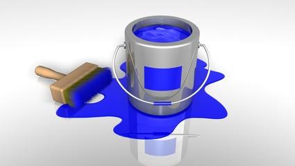 color paint _ Bleu