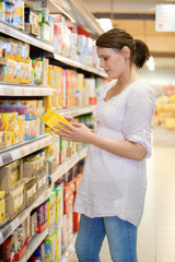 Woman looking at a product