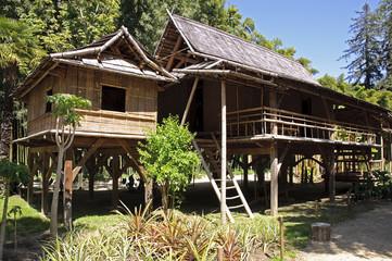 Maison de bambou
