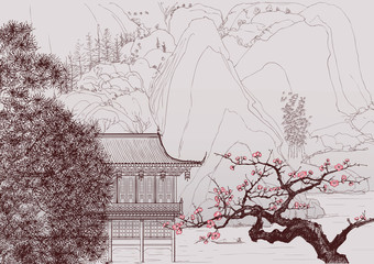 Wall Murals Art Studio Chinese landscape