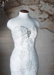 Wedding dress perpared for the bride