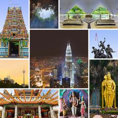 Collage of Kuala Lumpur (Malaysia) images