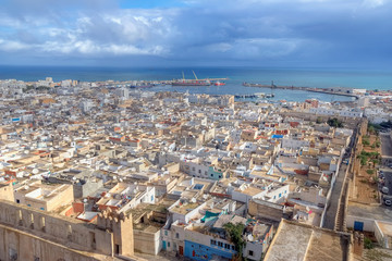 Aerial view on medina in Sousse