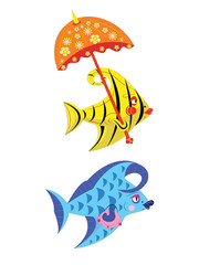 Fishes of the beauty.