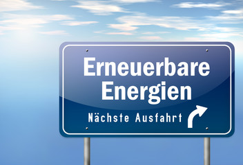"""Autobahnschild """"Erneuerbare Energien"""""""
