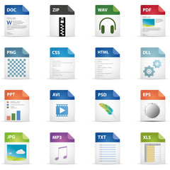 Filetyp Icons - DESIGN No. 1 -
