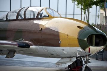 Avion militar clasico de guerra antiguo expuesto Fototapete