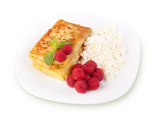 sweet pancakes with cottage cheese