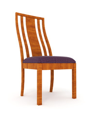 wooden chair isolated over white