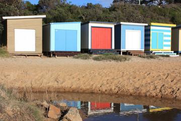 Beach Hut Reflections