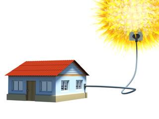 house using solar energy