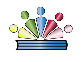 Books and students logo