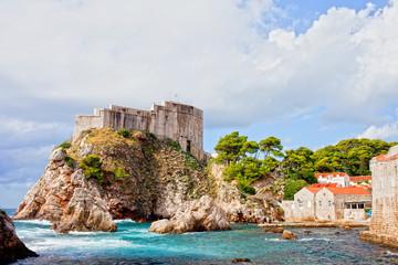 Poster de jardin Ruelle etroite Fort Lovrijenac in Dubrovnik