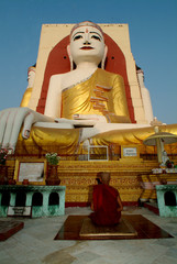Big white Buddha in Hongsaowade, Myanmar 4.