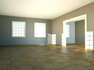 Wohndesign - beleuchtetes Wohnzimmer
