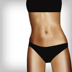Woman body, fitness background concept