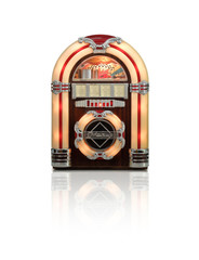 Juke box radio isolated on white background