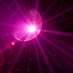 Fototapete - purple party background