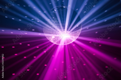 Wall mural party lights background