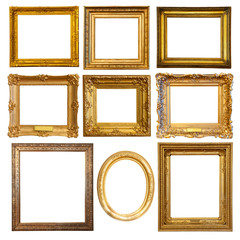 Set of   golden frame