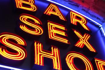 Foto op Aluminium Chicago Sex shop