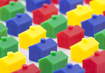 Colorful toy houses