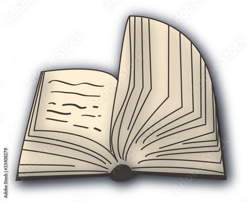 Aufgeschlagenes Buch Grafik