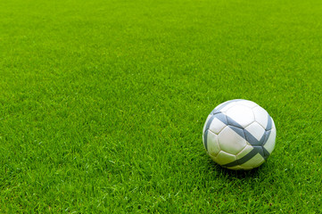 soccer ball on playing lawn