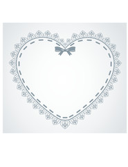 Beautiful background with lace ornaments and heart