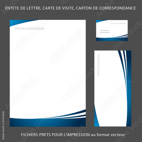 Tte De Lettre A4 Carte Visite Carton Correspondance