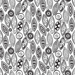 vector seamless background in ethnic style