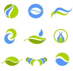 Water and earth symbols